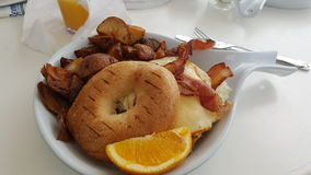 美国早餐在佛罗里达 免版税库存图片