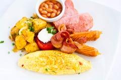 美国早餐 免版税库存图片