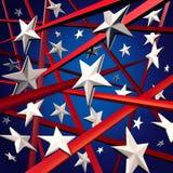 美国星形数据条 库存图片