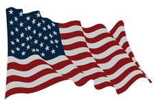 美国星条旗旗子在风振翼 皇族释放例证
