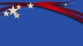 美国星条旗蓝色背景 免版税库存照片