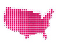 美国映射状态团结了 免版税库存照片