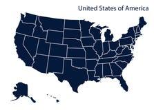 美国映射 美国 免版税库存照片