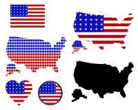 美国映射 库存照片