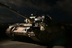 美国晚上坦克 图库摄影