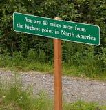 美国最高的北角符号 库存照片