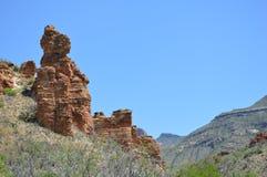 美国本地人岩石雕塑 库存图片