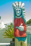 美国本地人木雕刻 免版税图库摄影