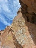 美国本地人刻在岩石上的文字Tsankawe新墨西哥 库存照片