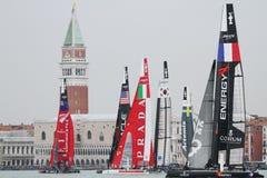 美国杯子赛船会S系列威尼斯世界 库存照片