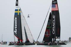 美国杯子赛船会S系列威尼斯世界 免版税库存图片