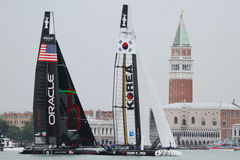 美国杯子赛船会S系列威尼斯世界 免版税库存照片