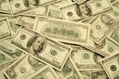 美国松散货币纸张 免版税图库摄影