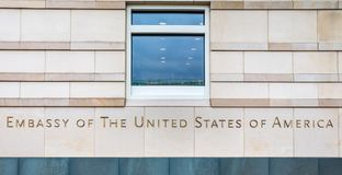 美国柏林德国的使馆 免版税库存照片