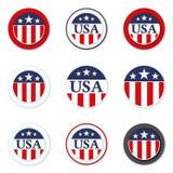 美国标签标志例证 免版税库存照片