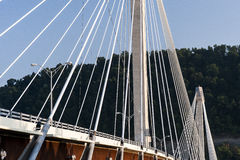 美国格兰特桥梁-俄亥俄河 库存照片