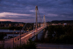 美国格兰特桥梁-俄亥俄河 免版税库存图片