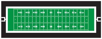 美国橄榄球联盟橄榄球领域 免版税图库摄影
