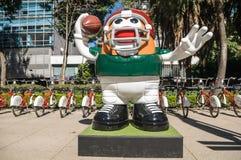 美国橄榄球联盟球游行墨西哥城2017年 免版税库存照片