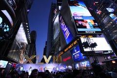 美国橄榄球联盟超级杯XLVIII NYC 免版税库存图片