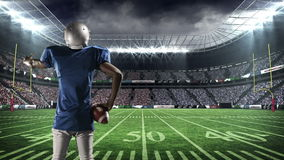 美国橄榄球运动员刺激支持者 影视素材