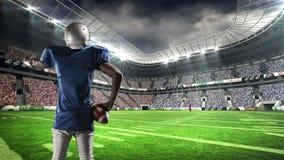 美国橄榄球运动员刺激支持者 股票视频