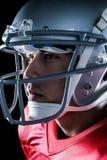 美国橄榄球运动员特写镜头  免版税库存照片