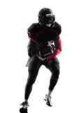 美国橄榄球运动员赛跑者赛跑 免版税库存图片