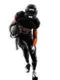 美国橄榄球运动员赛跑者连续剪影 库存图片