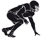 美国橄榄球运动员,剪影 免版税图库摄影