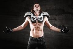 美国橄榄球运动员 免版税库存照片