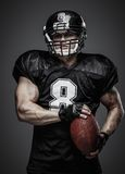 美国橄榄球运动员 库存照片