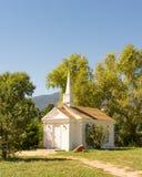 美国母亲` s教堂,岩石壁架大农场, CO 库存照片