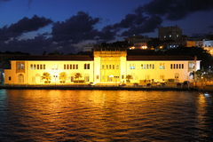 美国江海关在老镇,圣胡安 免版税图库摄影