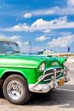 美国汽车停放的经典哈瓦那 免版税库存图片
