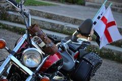 美国汽车和自行车 免版税库存照片