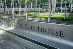 美国法院大楼标志 库存图片
