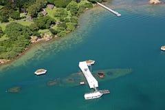 美国海军亚利桑那号战列舰纪念馆-珍珠港 免版税库存图片