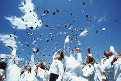 美国海军学校毕业典礼 免版税库存照片