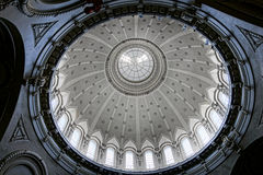 美国海军学院教堂圆顶内部 库存图片
