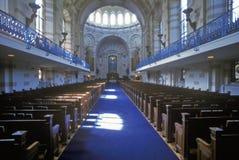 美国海军学院教堂,安纳波利斯,马里兰 库存照片