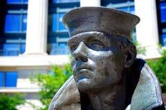 美国海军纪念品雕象 免版税库存图片