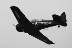 美国海军陆战队员飞机 库存图片