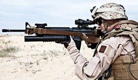 美国海军陆战队员 免版税库存照片