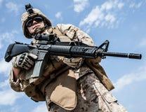 美国海军陆战队员 库存图片