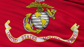 美国海军陆战队旗子特写镜头无缝的圈 股票视频