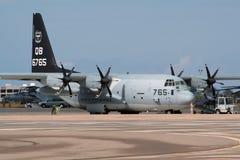 美国海军陆战队洛克希德C-130赫拉克勒斯运输航空器 图库摄影