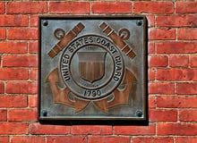 美国海岸警卫队匾 库存图片