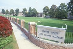 美国海岸警卫队学院 免版税图库摄影