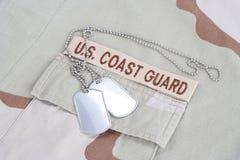 美国海岸警卫队有d的分支磁带 免版税库存照片